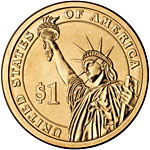 Uncirculated Presidential $1 Coin Reverse