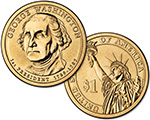 George Washington obverse/Statue of Liberty reverse